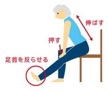 膝を伸ばすロコモ体操